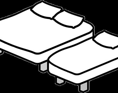 Háromágyas szobák